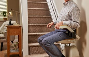man on stairlift
